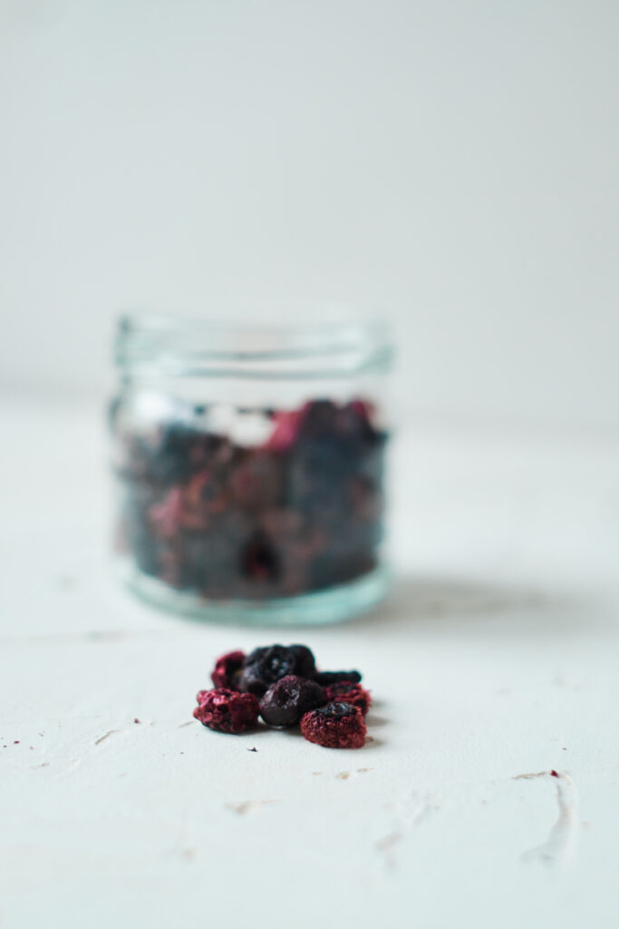Jar of Dehydrated Blueberries